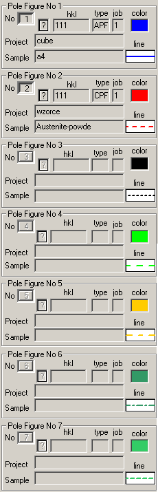 All Pole Figures Which Section Are Displayed Have To Be Choosen Before Button 2D Has Been Pressed If You Choose More Than 12 Then LaboTex